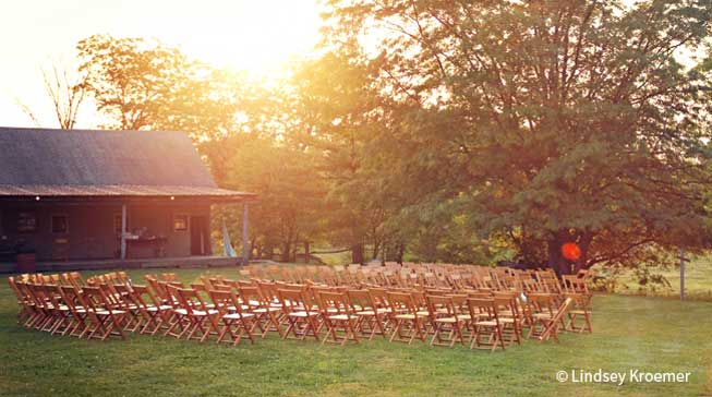 An Outdoor Wedding in Indiana Sure Business People