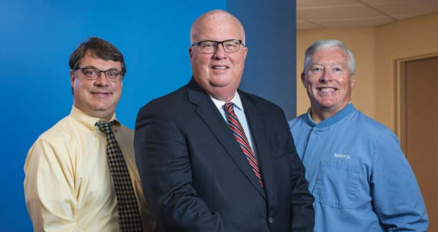 Brad Isbister, MD, Mark Dixon, CEO and Roger Valliere, DDS