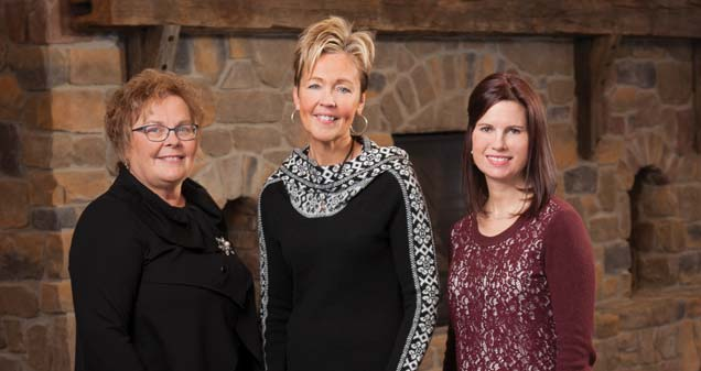 Cathy Schiek, director of social services, Lori Peare, director of sales and Sarah Horacek, director of marketing