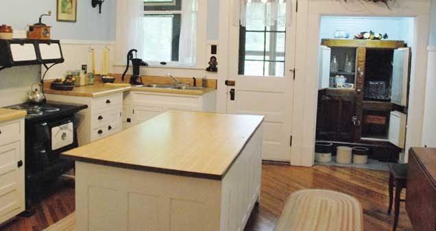 The kitchen was state-of-the-art when Stratton-Porter resided in the home.