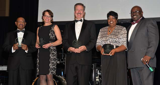 Honorees: Will Smith, Judge Wendy Davis, Chuck Surack, Dee McKinley, FWUL CEO Jonathan Ray